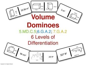 Volume Dominoes Common Core