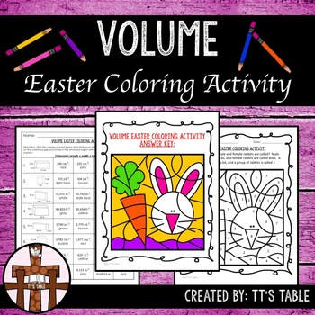 Volume Easter Coloring Activity
