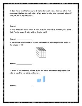 Volume- Envision Math Topic 12
