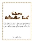 Volume Estimation Sort/Game
