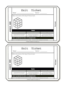 Volume Exit Tickets
