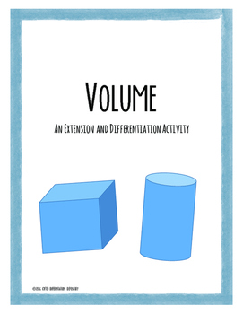 Volume Extension and Differentiation Activity