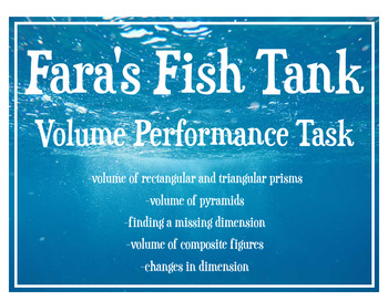 Volume: Fish Tank Geometry Performance Task -Real World Application