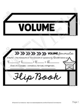 Volume Flip Book with Practice Problems