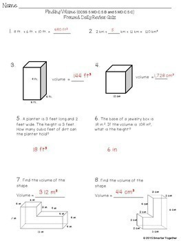 Finding Volume - Rectangular Prisms and Additive Property - Math Focused Review