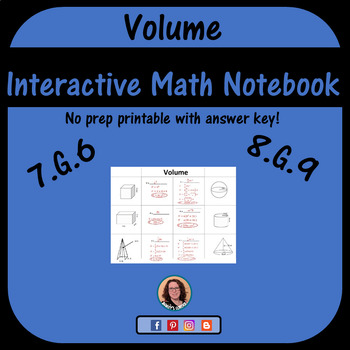 Volume Foldable for Interactive Notebook
