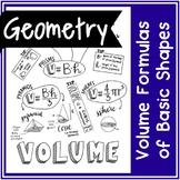 Volume Formulas | Handwritten Notes + BLANK VERSION