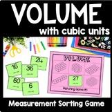 Volume Game, Fifth Grade Volume Matching Game, Math Center, Montessori Game