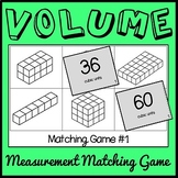 Volume Game, Fifth Grade Volume Matching Game, Math Center, Montessori Game