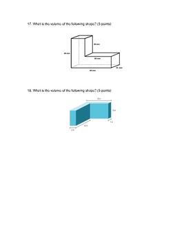 Volume & Geometry Test