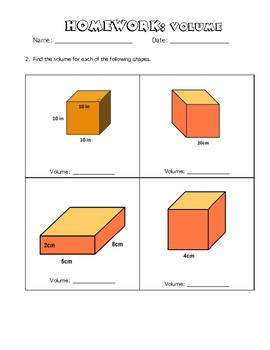 Volume Homework Practice