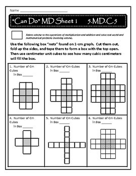 Volume II Practice Sheets:  CCSS 5.MD.C.5