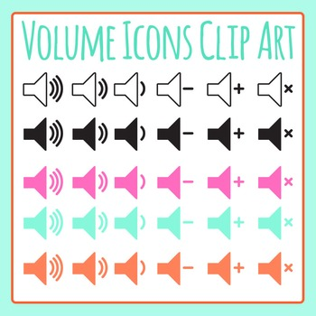 Volume Icons - Noise Level Clip Art Set for Commercial Use