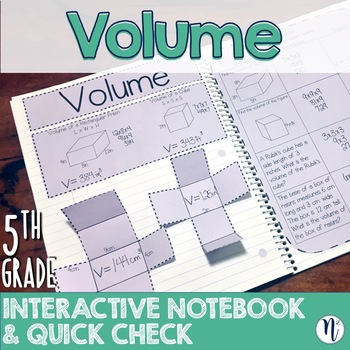 Volume Interactive Notebook Activity & Quick Check TEKS 5.4H