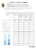 Volume Lab Worksheet
