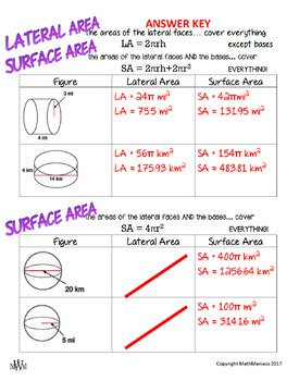Volume, Lateral Area, & Surface Area GUIDED NOTES Value Pack