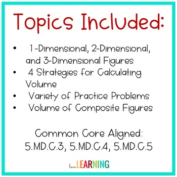 Volume Lesson {5th Grade CC Aligned}