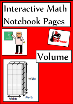 Volume Lesson for Interactive Math Notebooks