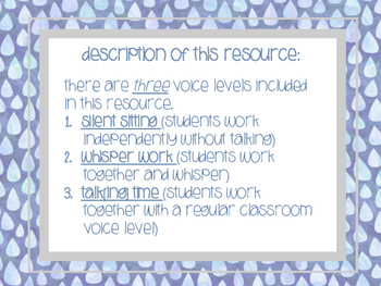 Volume Level Posters (Classroom Management LIFE SAVER)