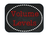 Volume Levels - Burlap, Chalkboard, and Red