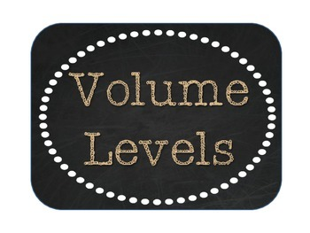 Volume Levels - Burlap, Chalkboard, and Tan