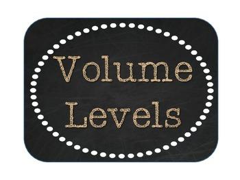 Volume Levels - Burlap, Chalkboard, and Tan