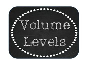 Volume Levels - Burlap and Chalkboard