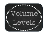 Volume Levels - Burlap and Chalkboard