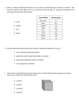 Volume, Mass, and Density