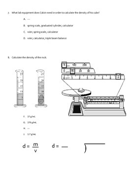 Volume, Mass, and Density MOD