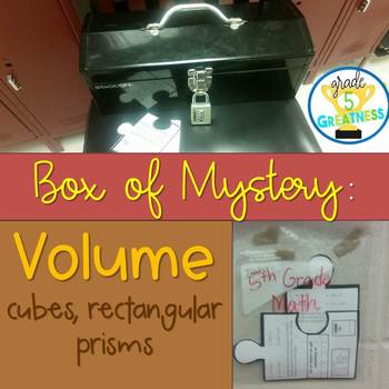 Volume Math Mystery Activity
