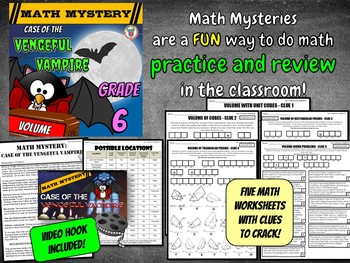 6th Grade Volume Math Mystery - Vengeful Vampire Volume Review