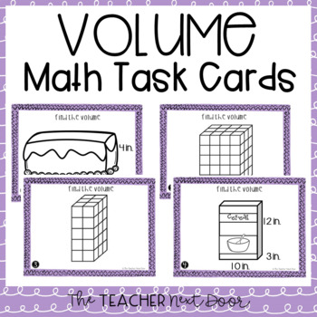 Volume Task Cards for 5th Grade