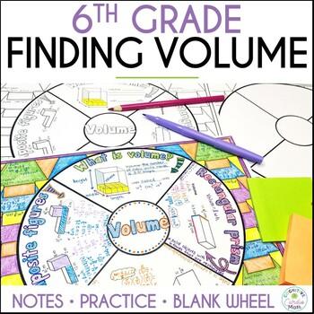 Volume Math Wheel - Grade 6
