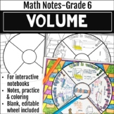 Volume Math Wheel - Grade 6