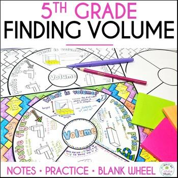 Volume Math Wheel - Note-taking Format