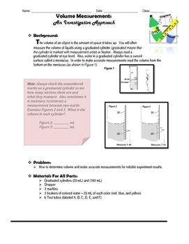 Volume Measurement: An Investigative Approach - Process Skills
