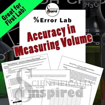 Volume Measurement - Percent Error Lab