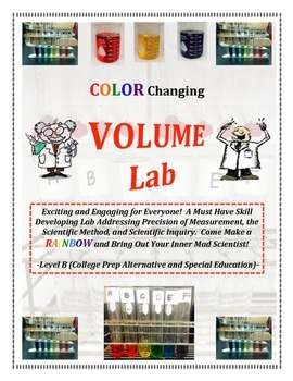 Volume Measurement RAINBOW LAB - Level B (CP or SPED)  Must Have!