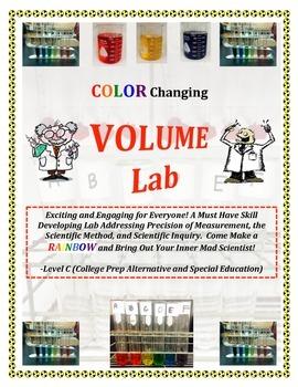 Volume Measurement RAINBOW LAB - Level C (CP, SPED, INCLUSION)  Must Have!