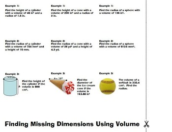 Volume Missing Dimensions Foldable
