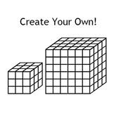 Volume Model Fonts - Customizable Cube Models