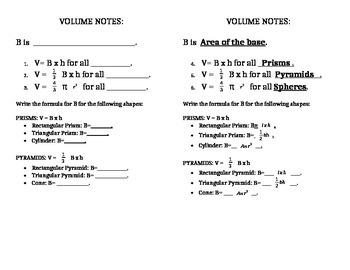 Volume Notes