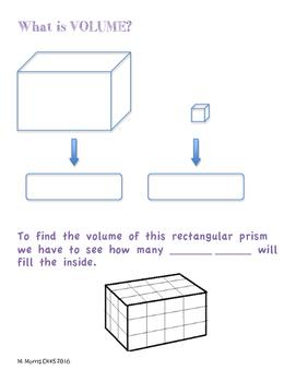 Volume Notes - Rectangular Prism