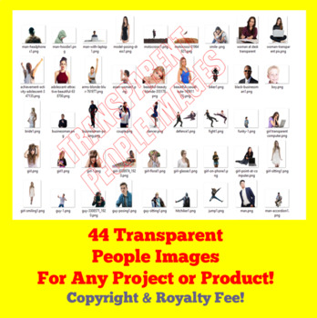 Volume One 390+ Transparent Images for TPT Sellers / Teachers