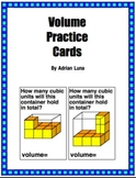 Volume Practice Cards & Worksheets