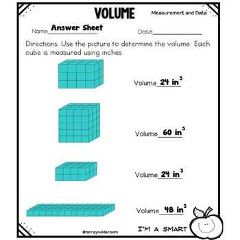 Volume Practice Sheets