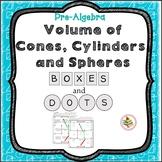 Volume of Cylinders, Cones, Spheres Geometry Review Activity Pre-Algebra Game