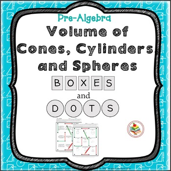 Volume of Cylinders, Cones, Spheres Geometry Review Activity Pre-Algebra Game
