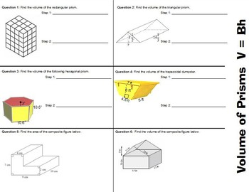 Volume Prisms Foldable